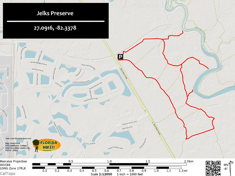 Jelks Preserve Trail Map