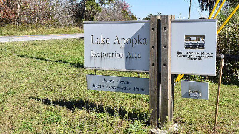 Old Lake Apopka Restoration Area sign