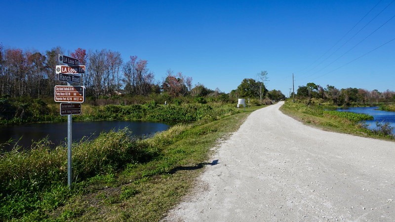 Clay Island trail junction