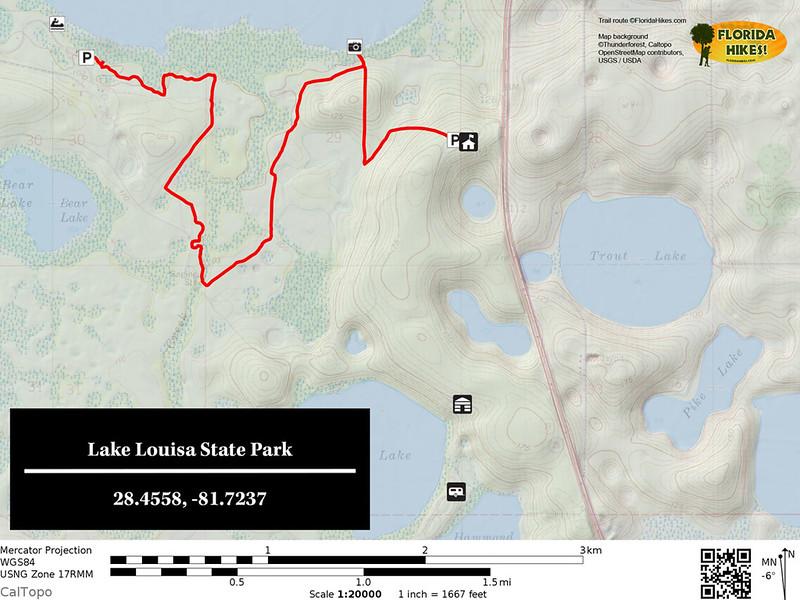Lake Louisa State Park Trail Map