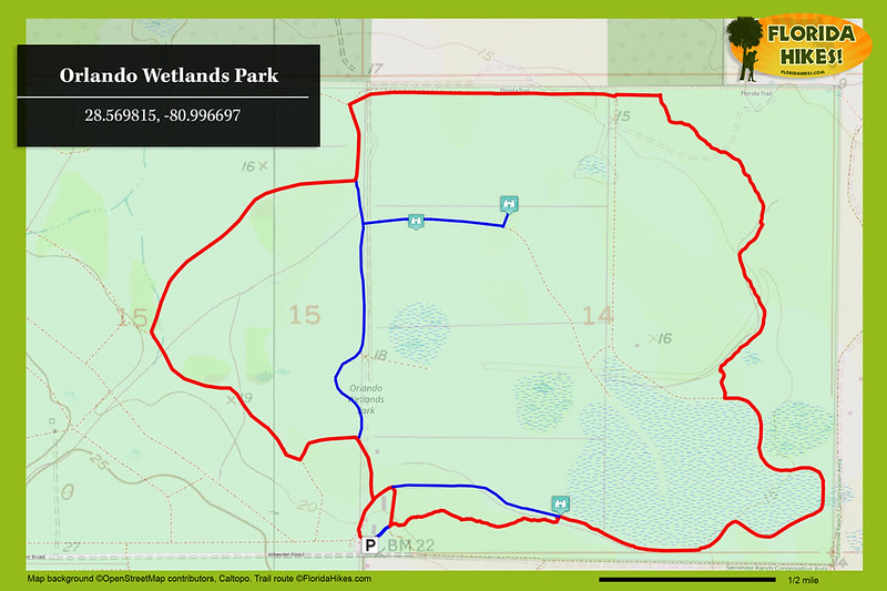 Orlando Wetlands hike map