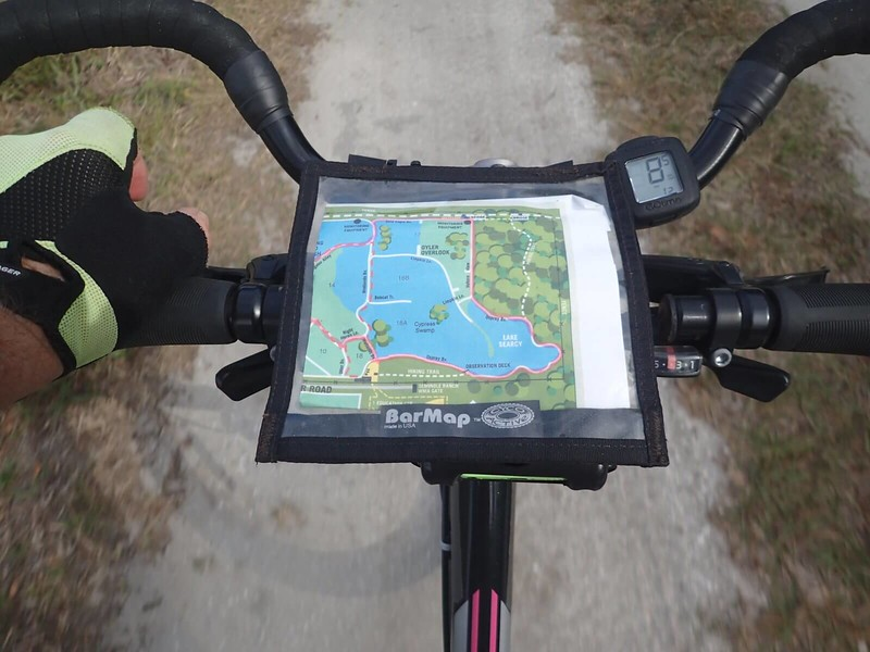 Map on bike