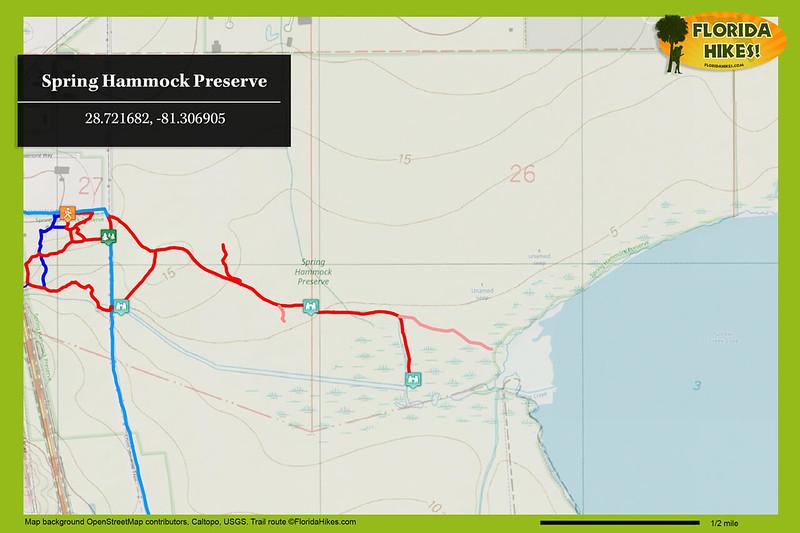 Spring Hammock Preserve Trail Map