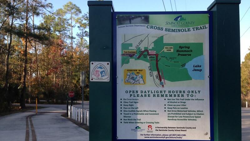 Cross Seminole Trail kiosk