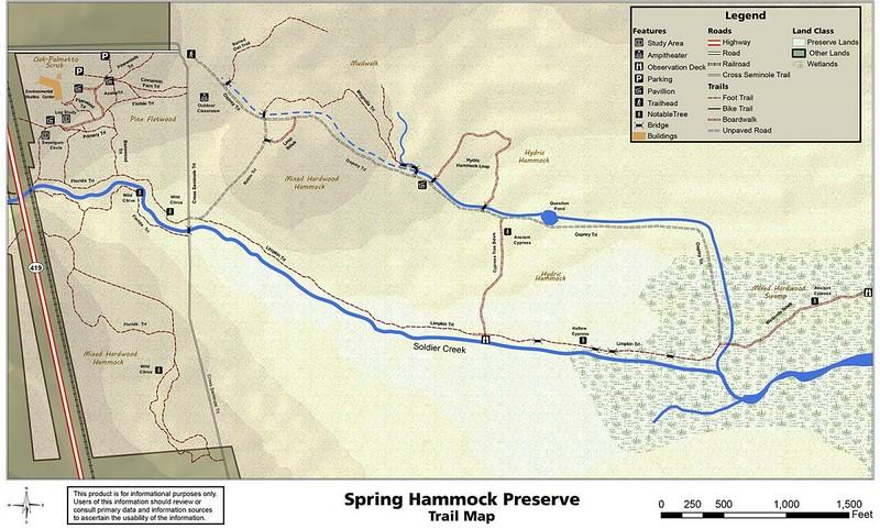 Spring Hammock Map from 2010