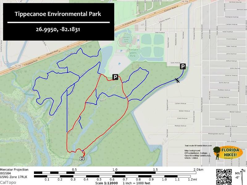 Tippecanoe Environmental Park Trail Map