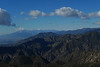 The San Gabriels as seen from Crystal Creek Heliport - zoomed in.