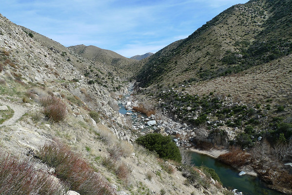 Trail Run along PCT - Mojave Forks to Deep Creek Hot Springs & back 2.5.11