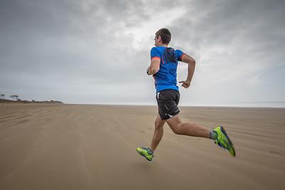 Beach sprint...