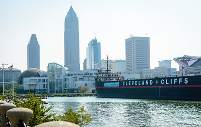 View of Downtown Cleveland from the harbor