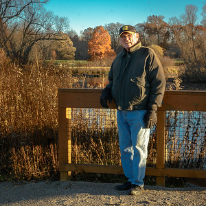 Bob by Corning Lake in Holden Arboretum