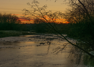 Sunset over the Chagrin River