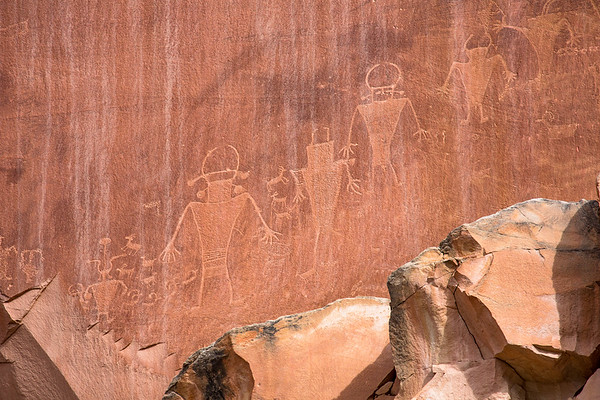 Fremont Canyon Petroglyph Panel, Capitol Reef National Park, Utah