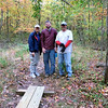 Diane, Nate, Jeff: the bog bridge is finished. All that remains to be done is attach the plaque.