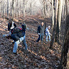 Melissa, Diane, Jeff, Allwyn and Dara are clipping blueberry along the Long Path at the West Point/Harriman S.P. line.