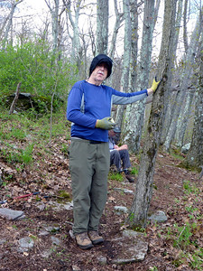 Mike taking an apple break (5/18/14).