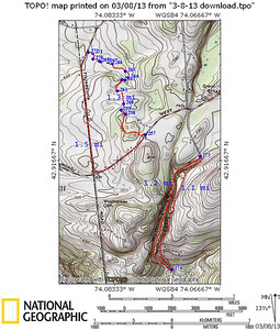 Wolf Hollow is the solid red track in the right bottom corner. The off-road section is from W Glenville Rd (257) to Touareuna Rd (272). The bypasses on the roads are shown with red dashes.