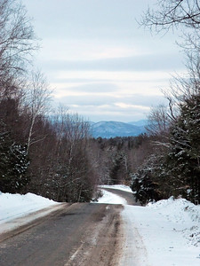 Fox Hill Road in the Town of Edinburg, Saratoga County, looking northwest.