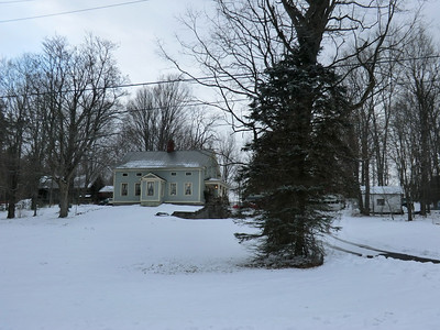 Across from the Grenell Road Cemetery in the Town of Milton, Saratoga County.