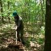 Steve raking the trail (6/22/15).