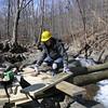 175  Johnny Waffenschmidt at work on bridge