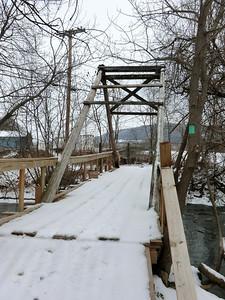 Bridge across Line Creek in Middleburgh (3/22/13).
