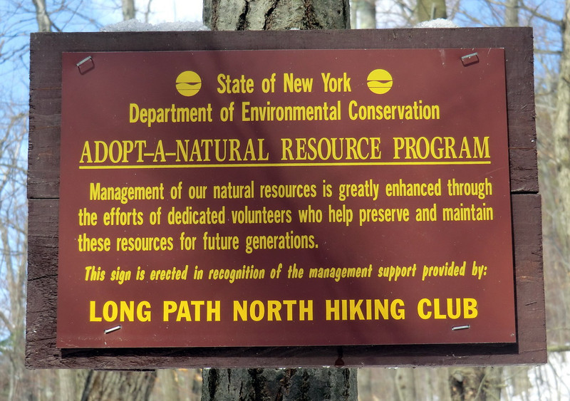LPNHC sign in Cotton Hill State Forest.