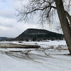 View of Vroman's Nose across a freshly manure-scented field along the Schoharie Creek in Middleburgh (3/22/13).