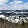 View of Middleburgh and Vroman's Nose from the Middleburgh Cliffs (3/21/13).