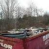 One full dumpster.