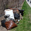 Unsafe garbage along the Palisades Interstate Parkway.