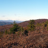 Looking north along the ridge towards the fire tower. The Catskills in the distance.