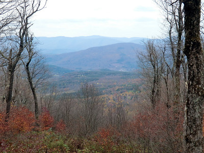 View from the lean-to on Huntersfield Mtn.