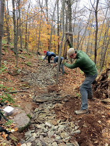 Andrew crushing rock.