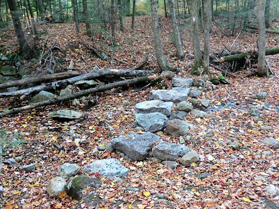 Stepping stones in the Sanders Kill.