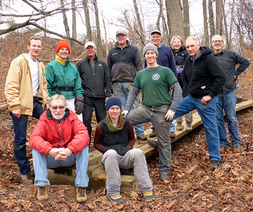 Left to right standing: Matt, Fred, Michael, Chris, John, Karl, Anna, Joel, Dennis. Sitting: Jakob, Christina.  (Anna photoshopped herself into the picture.)