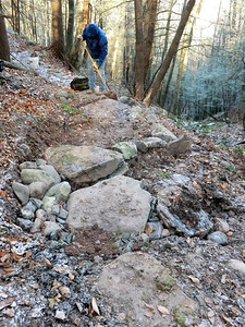 New stepping stones and ditch (11/24/13).