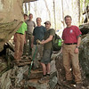 Finished with the crevice: Chris, Andy, Charley, Andrew and Erik (5/5/13).