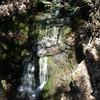 The falls were running.