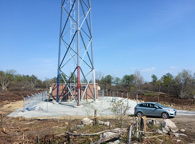 Area around the new emergency communications tower on the ridge.