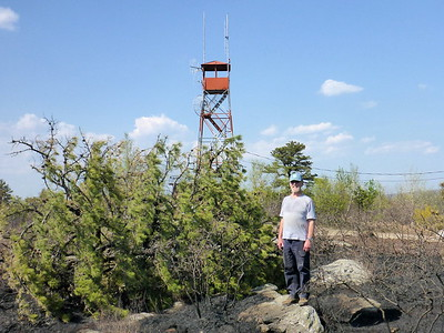 Thom near the fire tower.