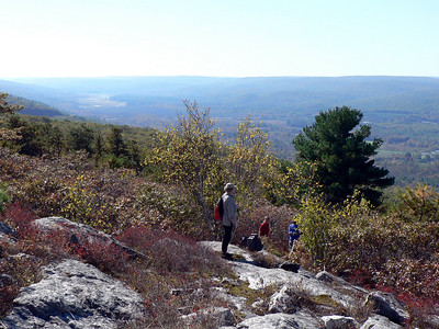 View north from the Wurtsboro Ridge (Bashakill in the distance).