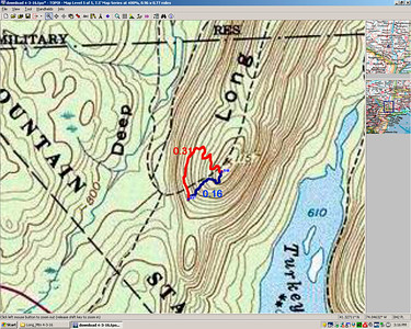 Long Path relocation on Long Mountain in Harriman S.P. (red is new, blue is old) - 4/2/16