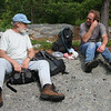 Lunch break in the gunks - Andy (right) and Jakob.