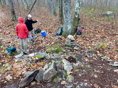 Brian and Charlie, Mt. Pleasant, Catskills, 10/26/14
