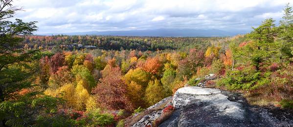 Minnewaska 10/14/14 - view from the Rainbow Falls trail.