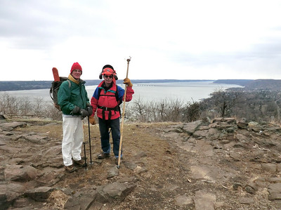 Fred and Dave on top of Hook Mtn. (3/14/13).