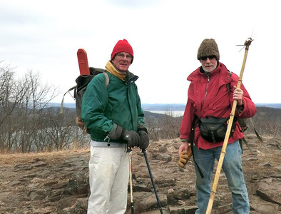Fred and Jakob on top of Hook Mtn. (3/14/13)