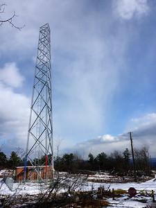 Sullivan County emergency tower near Roosa Gap S.F. (2/11/16).