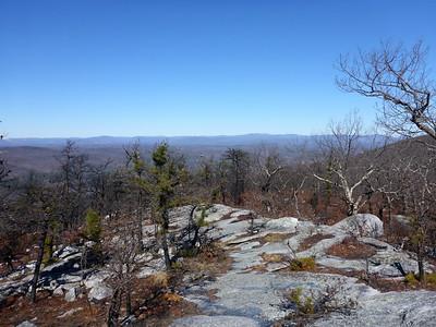 View north of the Catskills from the LP/SRT in Shawangunk Ridge SF - 2/18/16